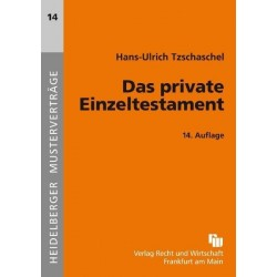 Das private Einzeltestament...